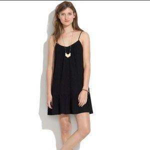 Madewell Daisy Stitch Black Sundress